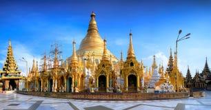 Shwedagon Paya Myanmer pagodowy sławny święty miejsce i atrakcja turystyczna punkt zwrotny Obraz Royalty Free