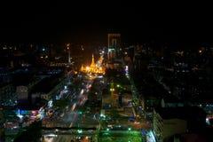 Shwedagon Paya nachts Stockfoto