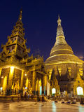 Shwedagon Paya by Night Royalty Free Stock Photos