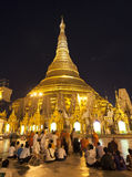 Shwedagon Paya by Night Stock Images