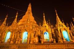 Shwedagon Paya at night, Yangoon, Myanmar. royalty free stock photo