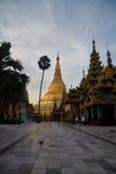 Shwedagon Paya pagoda Myanmer famous Stock Photo