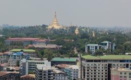 Shwedagon paya (pagoda) stupa. Yangon. Myanmar. Royalty Free Stock Photography