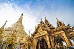Shwedagon Paya Pagoda, Yangon, Myanmar Stock Photos