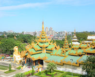 Shwedagon Paya Pagoda in Yangon Royalty Free Stock Photos