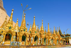 Shwedagon Paya Pagoda in Yangon Stock Photo