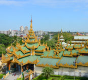Shwedagon Paya Pagoda in Yangon Stock Images