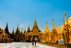 Shwedagon Paya pagoda. Yangon, Myanmar Stock Photos