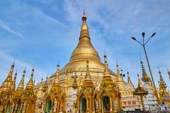 Shwedagon Paya pagodowy Myanmer sławny Zdjęcia Royalty Free