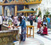 Shwedagon Paya Prayers Royalty Free Stock Photos