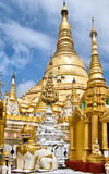 Shwedagon Paya, Yangon, Birmanie Photos stock