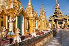 Shwedagon Paya, Yangon, Myanmar Fotos de Stock Royalty Free