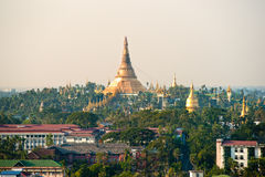 Shwedagon Paya, Yangoon, Myanmar. Stock Images