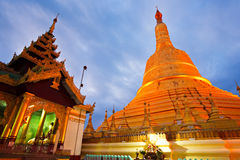Shwedagon Paya, Yangoon, Myanmar. Royalty Free Stock Images