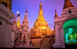 Shwedagon Paya, Yangoon, Myanmar. Stock Photo