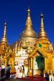Shwedagon Paya, Yangoon, Myanmar. royalty free stock photography