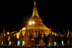 Shwedagon temple at night Stock Photography