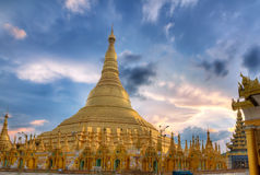 Shwedagon temple in Yangon, Burma Stock Image