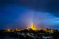 Shwedagon in Yangon city myanmar Royalty Free Stock Images