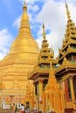 shwedagon yangon pagoda myanmar стоковое изображение