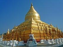 Shwedagonpagode in Myanmar Stock Afbeelding