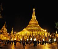 Shwedagonpagode Myanmar Birma Stock Afbeeldingen