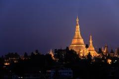Shwedagonpagode, Yangon, Myanmar Royalty-vrije Stock Foto
