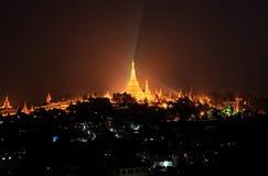Shwedagonpagode, Yangon, Myanmar Royalty-vrije Stock Afbeelding