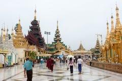 Shwedagonpagode in Yangon, Myanmar royalty-vrije stock foto's