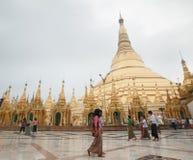 Shwedagonpagode in Yangon, Myanmar stock fotografie