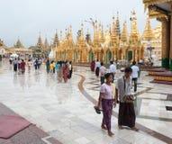 Shwedagonpagode in Yangon, Myanmar royalty-vrije stock afbeelding