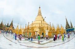 Shwedagonpagode in Yangon, Myanmar royalty-vrije stock foto