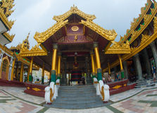 Shwedagonpagode in Yangon, Myanmar royalty-vrije stock afbeeldingen