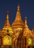 Shwedagonpagode Yangon in Myanmar Royalty-vrije Stock Foto's