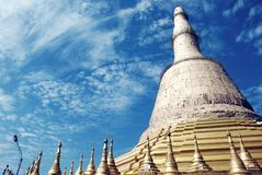 Пагода Shwedaw в Мьянме стоковое изображение rf