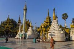 Shwedagon Pagoda in Yangon. Stock Image