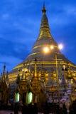 Shwegadon pagodnatt Arkivfoto