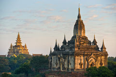 The Shwegugy Paya after sunrise, Bagan, Myanmar. Royalty Free Stock Photo
