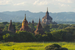 Shwegugyi Bagan古城,曼德勒, Myanm寺庙地标  库存照片