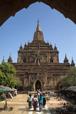Shwegugyitempel - Bagan - Myanmar Royalty-vrije Stock Foto