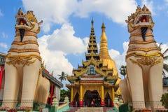 Shwemawdaw塔,在缅甸(Burmar)的Bago 免版税库存照片