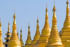 Shwemawdaw pagod. Bago. Myanmar. Arkivbild