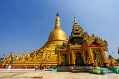 Shwemawdaw pagod, den mest högväxta pagoden i Bago Myanmar Royaltyfri Bild