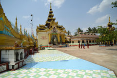 Shwemawdaw Pagoda at Bago, Myanmar Stock Photos