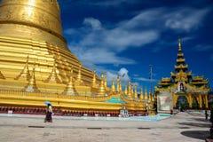 Shwemawdaw Paya Royaltyfria Foton