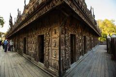 Shwenandaw drewniany monaster, Myanmar Obraz Stock