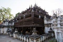 Shwenandaw drewniany monaster, Myanmar Zdjęcie Royalty Free