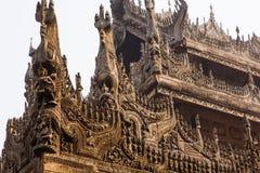 Shwenandaw Kyaung Temple Royalty Free Stock Photography