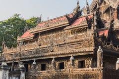 Shwenandaw Kyaung Temple or Golden Palace Monastery in Mandalay, Stock Photo
