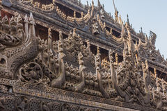 Shwenandaw Kyaung Temple or Golden Palace Monastery in Mandalay, Royalty Free Stock Images